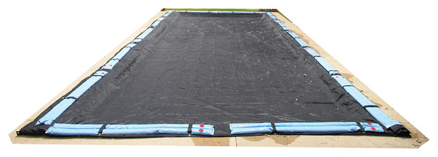 Rectangular Rugged Mesh In Ground Pool Winter Cover, 30&x27;x60&x27;.