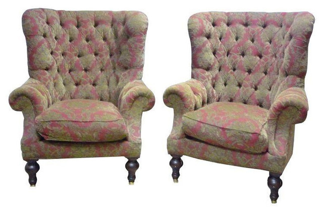 Lillian August Wing Back Chairs   A Pair   $4,200 Est. Retail   $1,500 On  Chairi