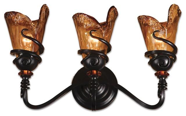 Uttermost 22860 vitalia 3 light bronze vanity lighting fixture uttermost 22860 vitalia 3 light bronze vanity lighting fixture mediterranean bathroom vanity aloadofball Gallery