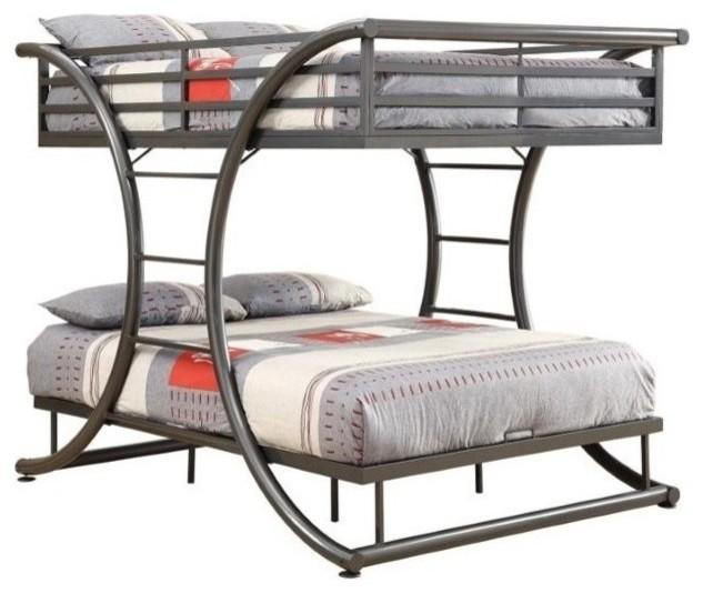 Coaster Stephan Full Over Bunk Bed Gunmetal Beds