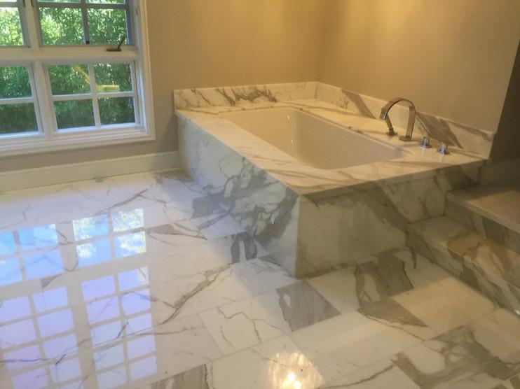 Coto De Caza Marble Bathroom