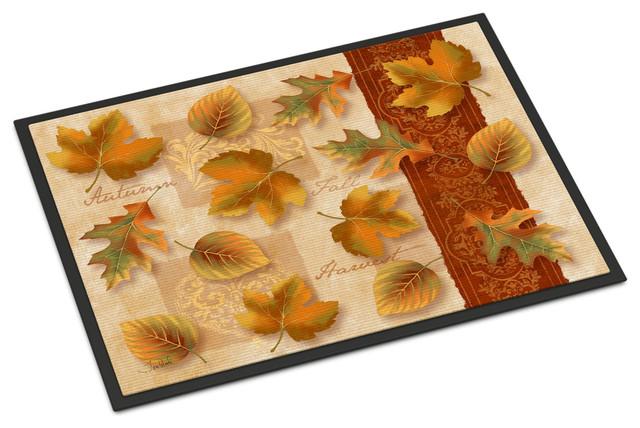Fall Autumn Leaves Indoor/outdoor Mat 18x27 Ptw2001mat.