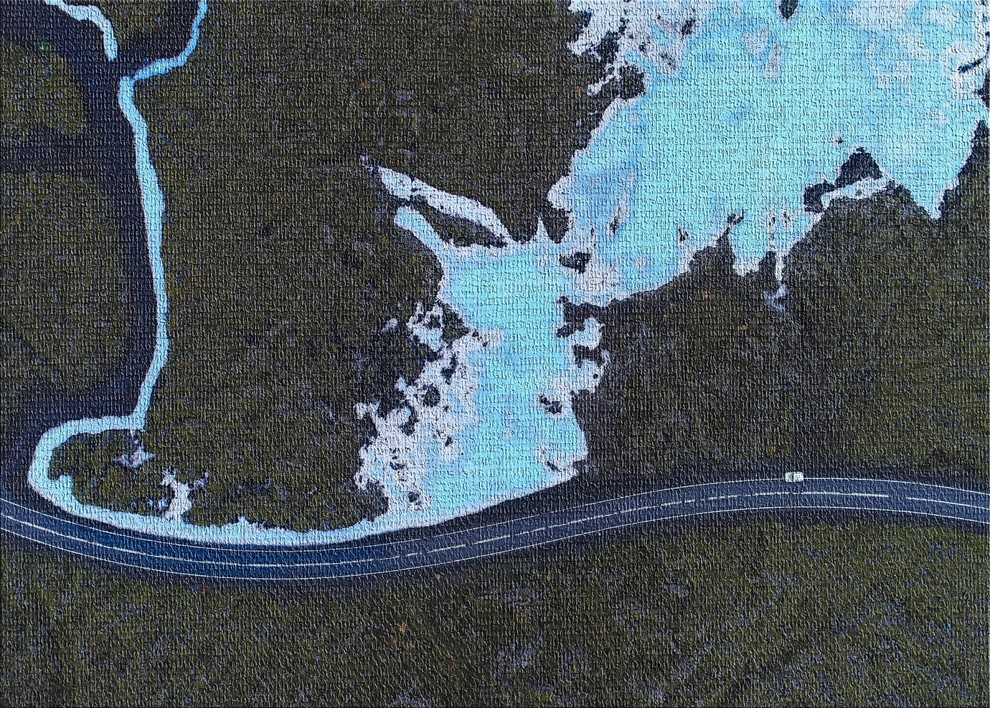 Aerial Shots From An Airplane 7 Area Rug 5 0 X7 0 Contemporary Novelty Rugs By Rug Tycoon
