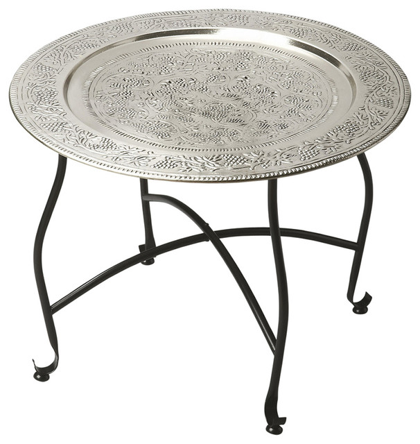 Butler Agadir Metal Moroccan Tray Table Mediterranean Side Tables And End
