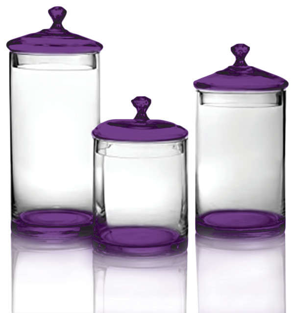Shop Houzz Table Top King Glass Canisters Silver Knobs Clear By Table Top King Kitchen