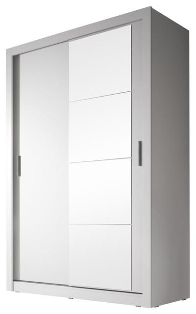 Beta 2-Door Sliding Wardrobe, Matte White