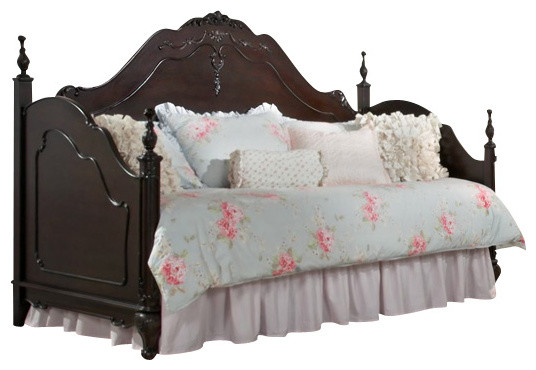 Homelegance Cinderella 4 Piece Day Bed Kidsu0027 Bedroom Set In Dark Cherry  Traditional