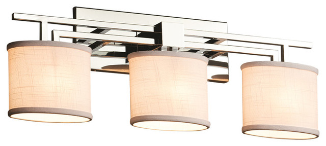 Textile Aero 3-Light Bath Bar - Transitional - Bathroom Vanity Lighting - by Justice Design ...