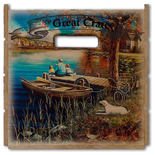 "Treasured Moments Great Crate 17.5""x12.5""x11.5""."