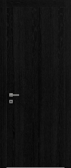 "Sarto Planum 0010 Interior Door Black Ash Vertical 36""x80"", Right Hand."