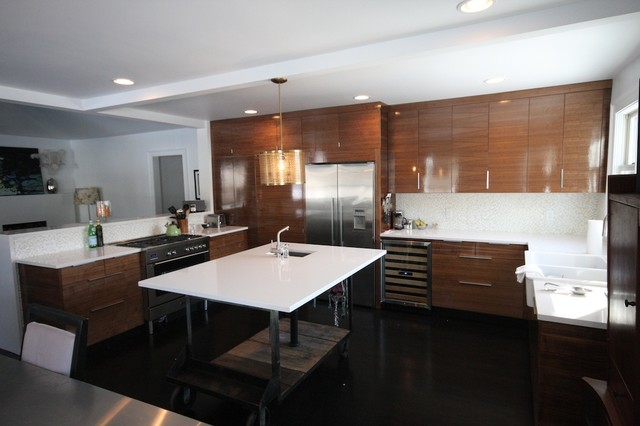 modern walnut kitchen - modern - kitchen - nashville -fritsch