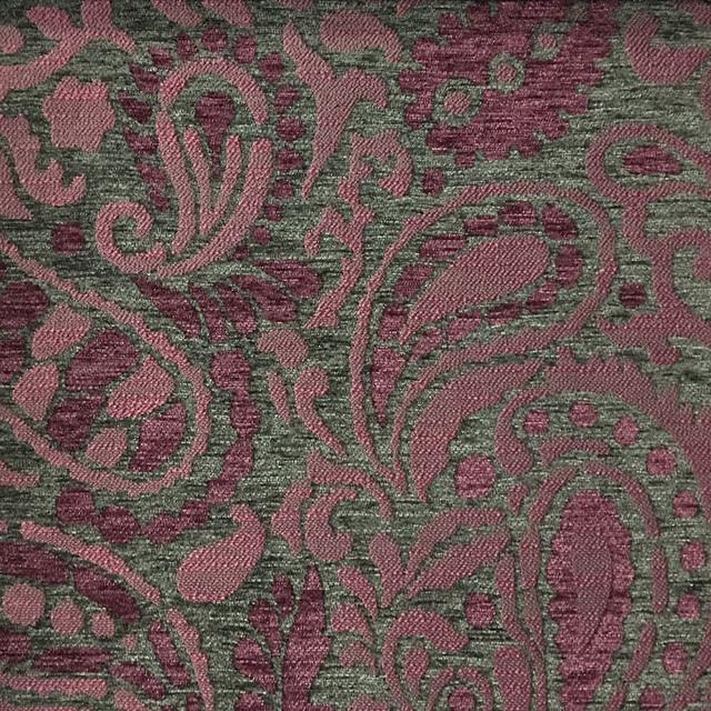 Sydney Paisley Textured Chenille Upholstery Fabric Yard Modern