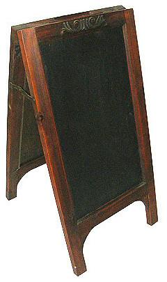 "A&b Home Market Find Blackboard Stand, 19.7""x15.8""x25.2""."