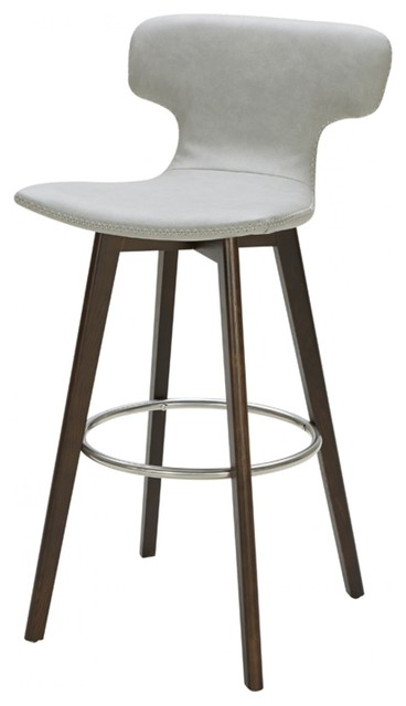 Superb Modrest Zach Modern Gray Eco Leather Bar Stool Evergreenethics Interior Chair Design Evergreenethicsorg
