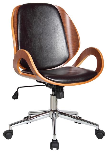 Mira Adjustable Desk Chair, Brown.