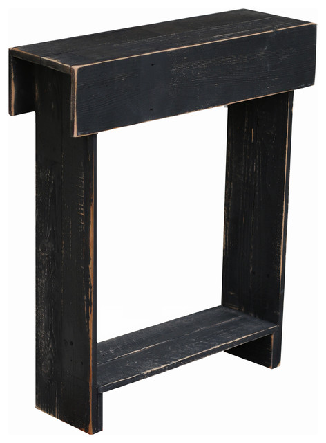 Farmhouse Skinny Table, Black.