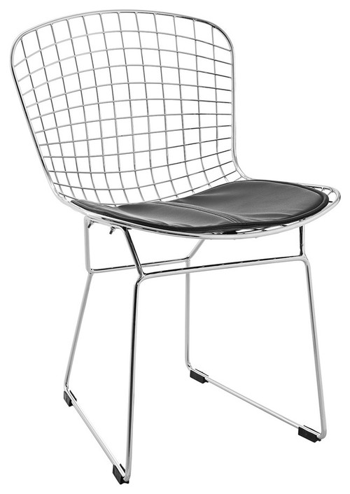 Modway CAD Dining Side Chair, Black