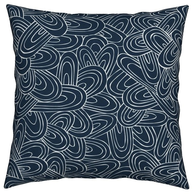 geometric geo arches blue navy modern abstract throw