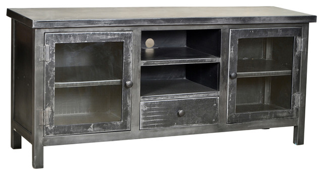 Industrial Plasma Cabinet - Rustic - Media Cabinets - by Design Mix Furniture