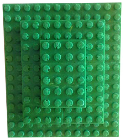 Lego Curtain Holdback, Green.