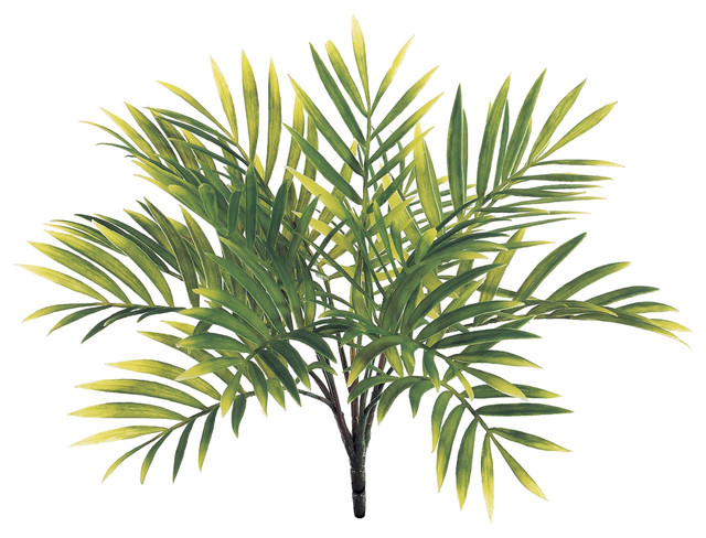 silk plants direct large parlor palm bush, pack of 12 - tropical