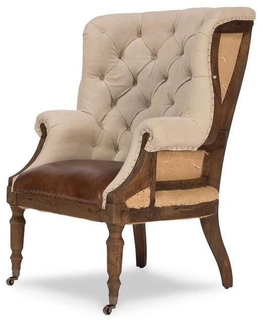 Deconstructed English Wing Chair  