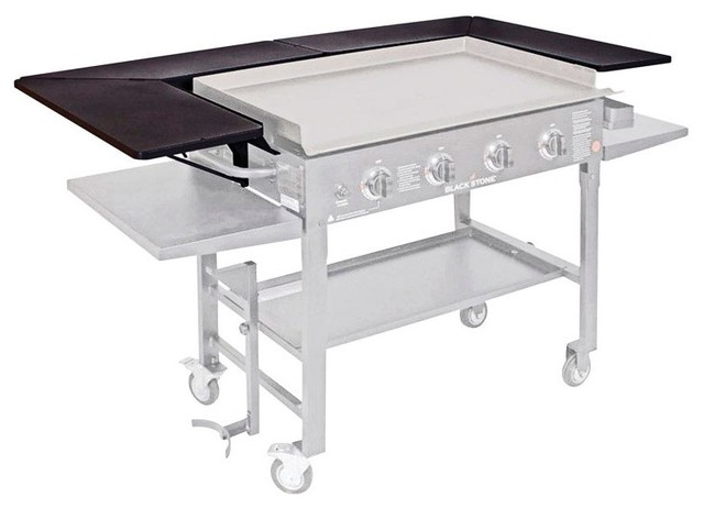 "Blackstone Griddle Surround Table, Steel, Black, 12""x64""."