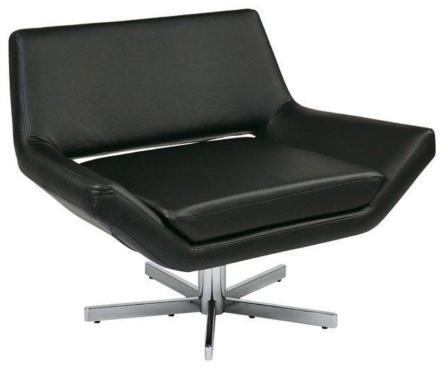 Yield Modern Lounge Chair With Wide Seat and 5 Star Base