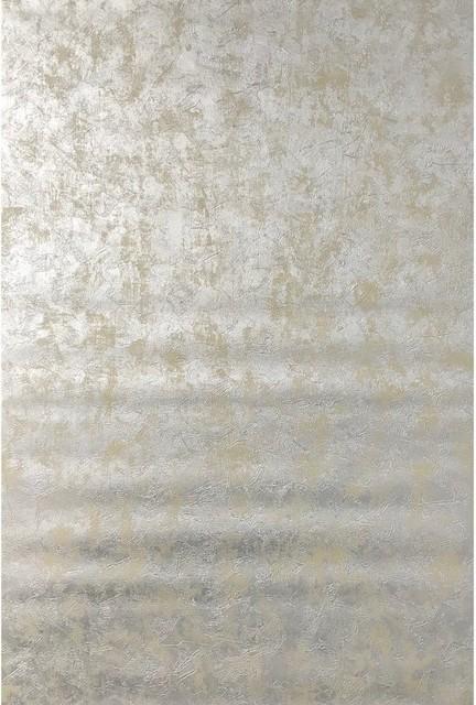 Metallic Plain Beige Silver Wallpaper Contemporary Wallpaper