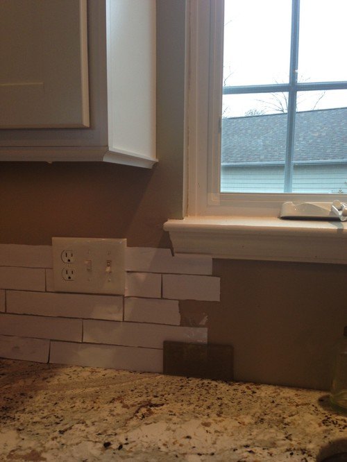 need help with where to end tile backsplash around window. Black Bedroom Furniture Sets. Home Design Ideas