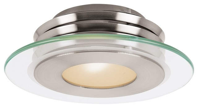 Helius Flush Mount, Brushed Steel.