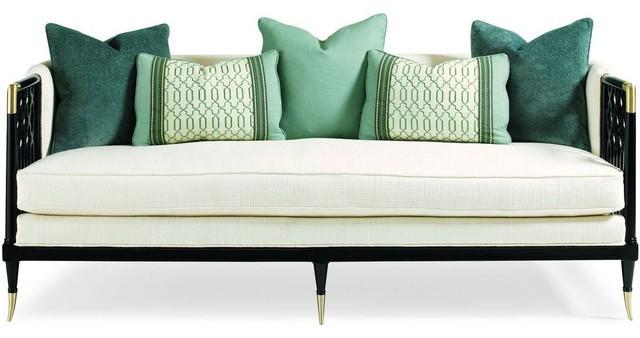 Hawt Gold Sofa Transitional Sofas