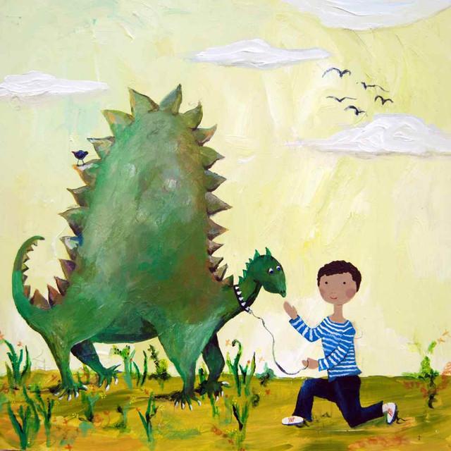 Dino African American Art Print - Contemporary - Kids Wall Decor ...