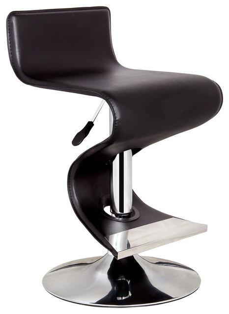 Bromi Design King Black Adjule Height Bar Stool