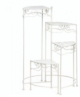 White 4-Tier Plant Stand