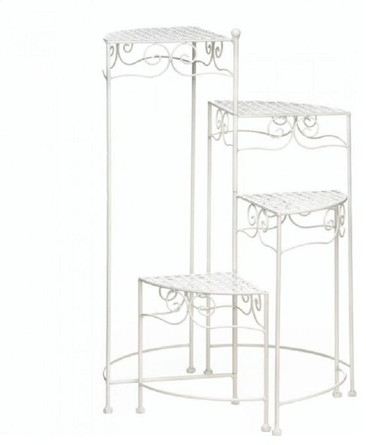 White 4-Tier Plant Stand.