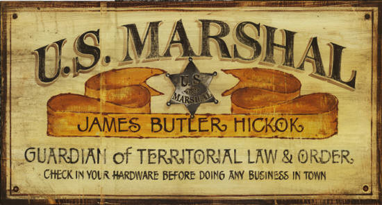 Vintage Western Signs Us Marshall Rustic Sign 26x14