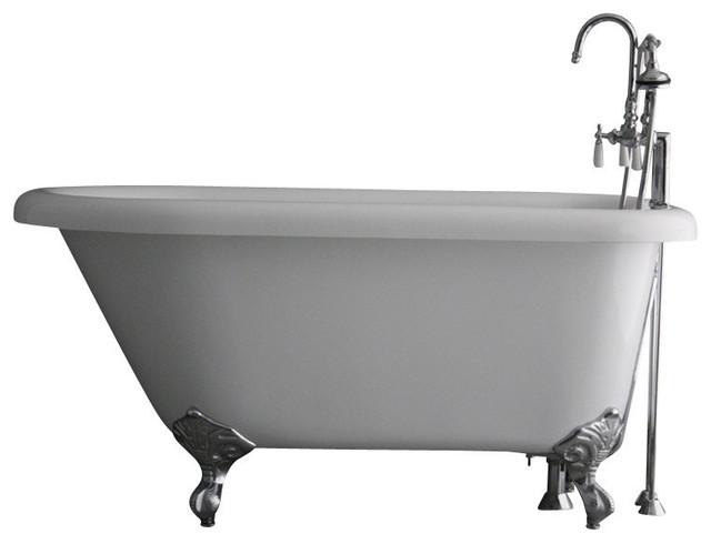 Hotel Collection Classic Clawfoot Bathtub/Faucet Package ...