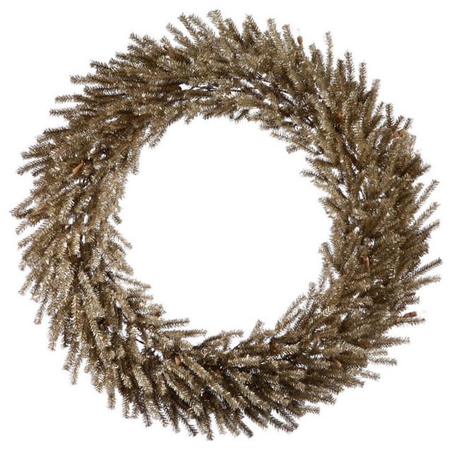 "24"" Unlit Mocha Wreath 580 Tips."