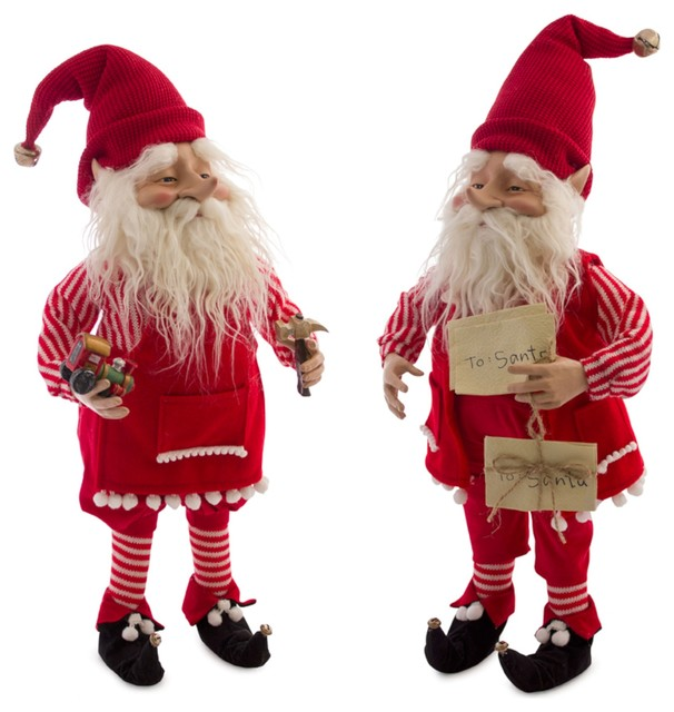 "Elf, Set of 2, 25""H Polyester/Resin"