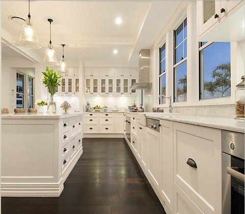 Dark Tile Floor Kitchen Adorable Yay Or Nay  Dark Wooden Kitchen Floor Inspiration Design
