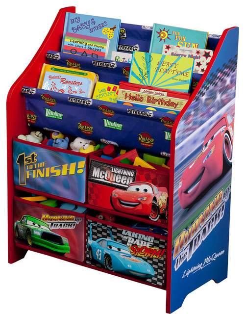 Paw Patrol Toy Organizer Bin Cubby Kids Child Storage Box: Children Kids Disney Pixar's Cars Book And Toy Multi Bin