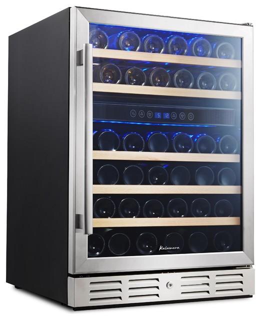Kalamera 24 Built In Wine Refrigerator 46 Bottle Dual