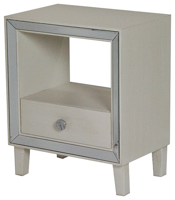Paloma Mosaic Coffee Table: Bon Marche 1-Drawer Accent Cabinet With Mirror Accents