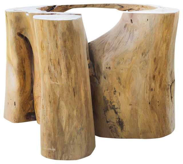 Ficus Wood Dining Table Base