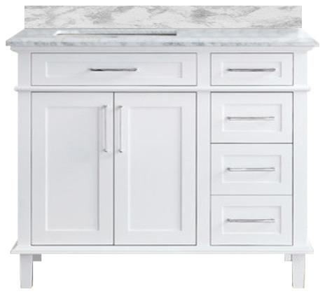 "Newport 42"" Bathroom Vanity, White"
