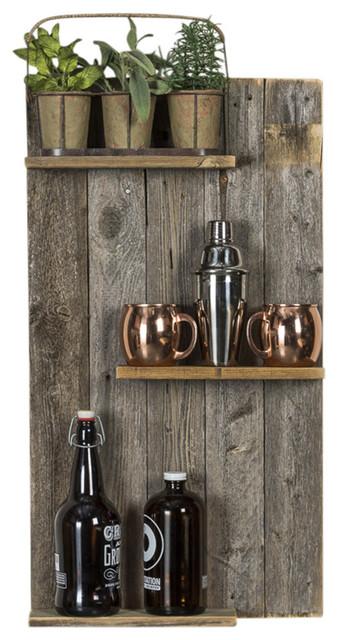 Rustic Mod Reclaimed Wood Wall Shelf