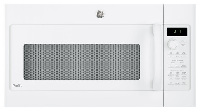 Over The Range Microwave 950 Cooking Watts Oven, White.
