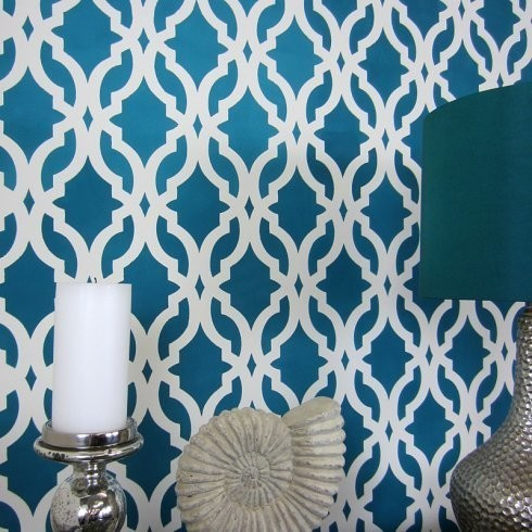 Tamara Trellis Allover Stencil, Reusable Stencils For Walls, DIY ...