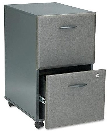 Shop Houzz   Bush Business Furniture Two Drawer File Cabinet w One Gang Lock, Series A - Filing ...